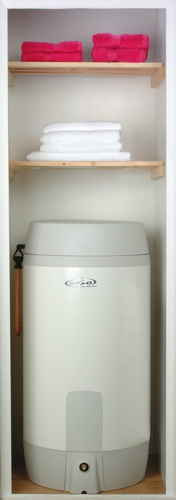 5-Year Partnership with OSO Hotwater Super S with lid on concealed pipes and cables